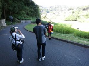 SBSテレビ重長智子アナ来たー!! | 棚田ブログ・静岡県菊川市上倉沢